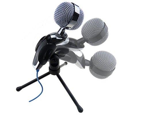 kingwin Pro Podcast Studio USB Chat Mikrofon für PC Laptop Skype MSN Aufnahme (Silber)
