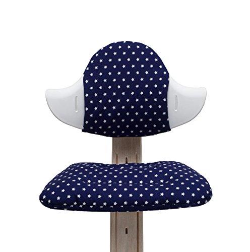 Blausberg Baby - Sitzkissen Set für Nomi Hochstuhl - blau Stern