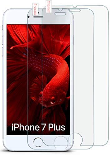 moex 2X 9H Panzerfolie für Apple iPhone 7/8 Plus   Panzerglas Display Glasfolie [Tempered Glass] Screen Protector Glas Displayschutz-Folie für iPhone 7/8 + Plus Schutzfolie -