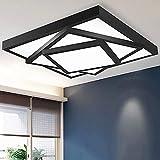 wykbm Kreativ LED 3-Tier Rechteck unsichtbare rechteckige Lampe, die Zimmer der Beleuchtung, einfache und Moderne Lounge Deckenleuchten Lampe Laterne Lampen (Farbe: Fernbedienung 60 bis 72 F-90*)
