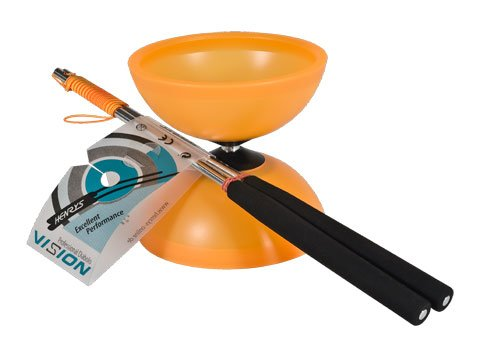 Henrys J04050-13 - Yo-Yo, Diabolo Vision Set, inklusive Handstäbe, orange