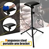 SLB Works Brand New Height Adjustable Tattoo Tripod Stand Arm Leg Rest Studio Chair Sponge Pad Tool