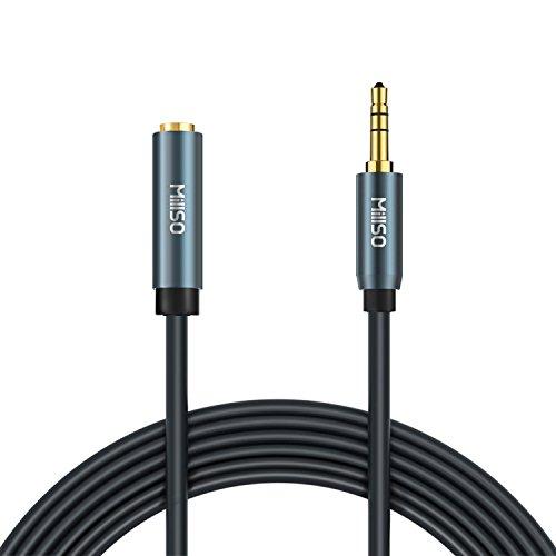 MillSO Audio Verlängerungskabel 2m Stereo Audiokabel 3,5 mm Klinkenstecker auf 3,5mm Klinkenbuchse für iPhone, iPod, MP3, Stereo, Handy, Sprecher, Kopfhörer, Auto Radio, Heimkino und Heim Stereoanlage