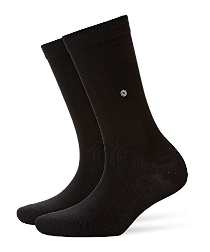 Burlington Damen Lady Socken, Blickdicht, Schwarz, 36-41