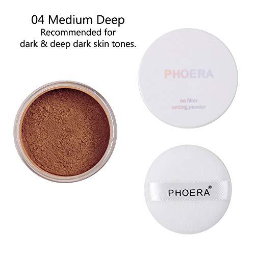 Jaminy Cosmetics Make Up Foundation,Fix Baking Powder, Loser Puder, Fine Loose Mineral Powder,Soft Mat Loose Powder (D)