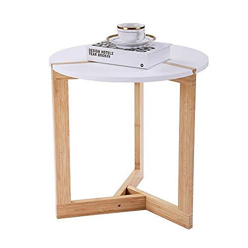 Moderner Runder Schrank (LARRY SHELL Beistelltisch Moderner Nachttisch Runder Beistelltisch mit Akzent aus der Mitte des Jahrhunderts für Wohnzimmer Schlafzimmer Balkon Familie und Büro)