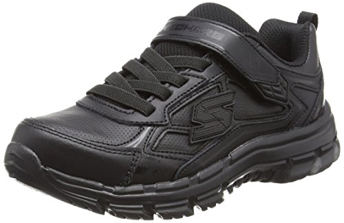 Skechers Boys Nitrate Low-Top Sneakers, Black (Bbk), 2 UK 35 EU