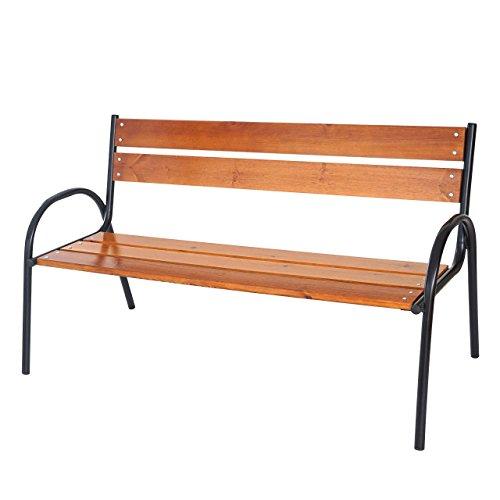 Gartenbank Tolve, Bank Parkbank Holzbank, massiv lackiert 3-Sitzer 160cm