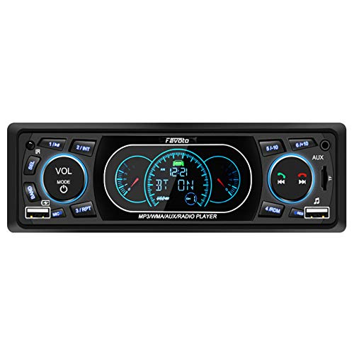 Favoto Autoradio Din 1 Bluetooth Freisprecheinrichtung Auto Radio MP3 FM Radio USB/SD/AUX Fernbedienung mit Deutscher Bedienungsanleitung