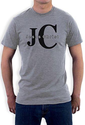 JC Jesus Christ Christus Weihnachten Kirche T-Shirt Grau