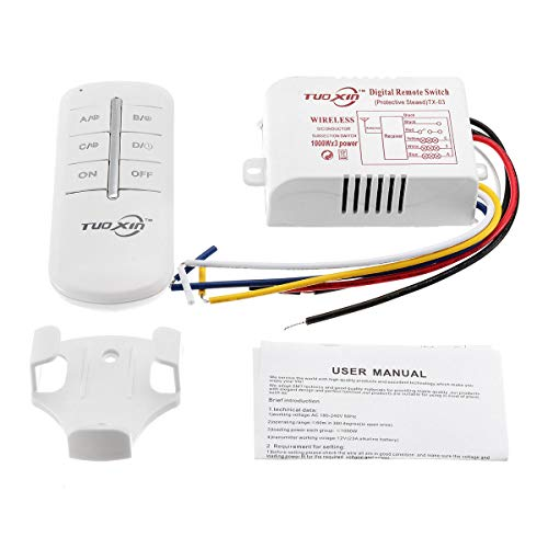 ChaRLes 1000W Led Intelligent Sensor Switch Digital Remote Switch Fernbedienung Empfänger Mit Sender Wireless Smart Remote Controller - 3 -