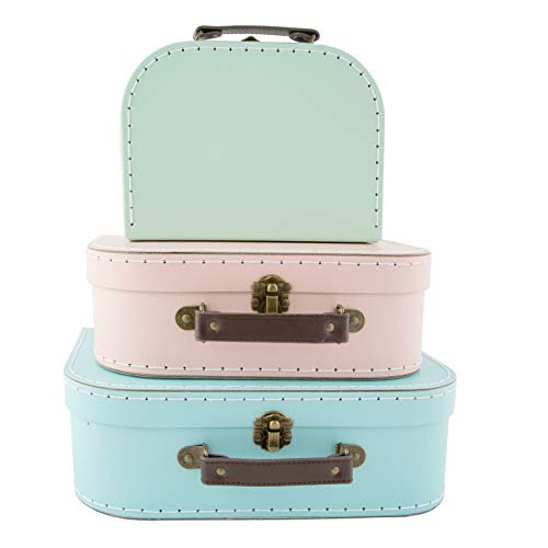 Sass & belle pastel (set of 3) retro suitcases