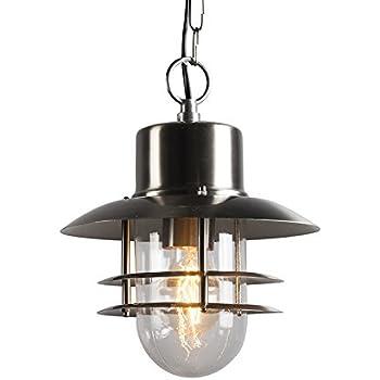qazqa moderne suspension lustre luminaire lumiere clairage ext rieure shell 22 cm verre acier. Black Bedroom Furniture Sets. Home Design Ideas