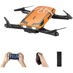 HELIFAR Mini Drone Pliable Télécommande Quadcopter H818 WiFi FPV Drone avec caméra HD Mini RC Quadcopter RTF pour Les Enfants Débutants Cadeau pour Familles&Amis