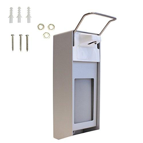 Desinfektionsmittelspender 1000 ml | Wand-Spender hochwertiges Aluminium inkl. Befestigungsmaterial | Dosier-Pumpe für Desinfektionsmittel & Seife | Sterilliumspender | Universalspender |Eurospender