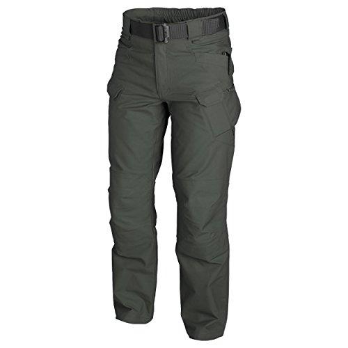 Helikon-Tex Urban Tactical Pants Polycotton Canvas Jungle Green - Wide Leg Cuff Hose