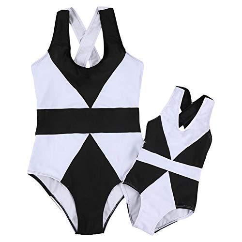 Miyanuby Mujer Bebé Niña Bañadores Trajes de Baño de una Pieza Bikini para Mamá y Yo Conjuntos...