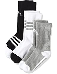 adidas Lk Plain Cr So Calcetines, Niños, Negro (Negro / Blanco / Brgrin), 31/34