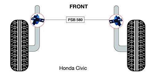 PSB polyuréthane Bush Bras longitudinal arrière bushing kit Civic (1988-2000) - PSB 580