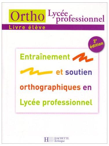 Ortho Lycée professionnel