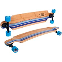 HUDORA 12810 - monopatines (Longboard, Azul, Madera, Imagen, Azul)