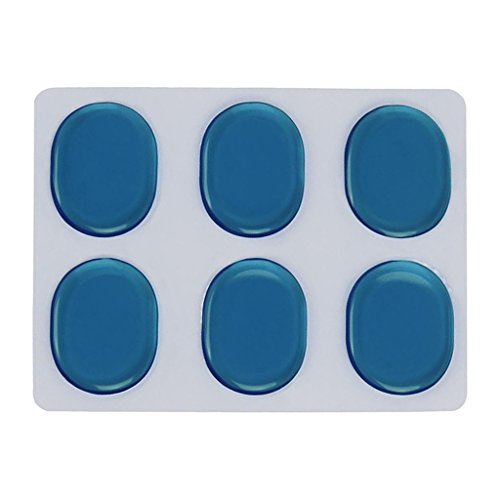 SM SunniMix 6 Pcs Tambores Trampa Mudo Almohadilla Lazo de Siliconas Práctica - Azul, como se describe
