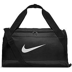 Nike Brsla Sac de Sport d'Entraînement Mixte Adulte, Noir/Noir/Blanc, Taille S