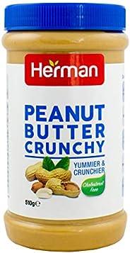 Herman Peanut butter crunchy - 510 gms - pet