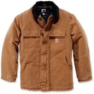 Carhart Workwear Sandstone - Chaqueta de trabajo (100% algodón, 6 bolsillos)