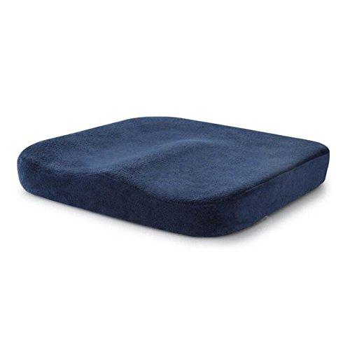 MEMORY FOAM Sitzkissen Orthopädisches Steißbein Ischias Sitzkissen Autositz Kissen Rollstuhl Büro Stuhl Sitz Kissen Memory Schaum soft für unteren Rücken Steißbein Steißbein Hämorrhoiden unterleibsschmerzen Comfort Soft Seat Pad Schaumstoff Sitzkissen für Bürostuhl Home C, navy, 40*40*5.5 cm (Memory-schaum-keil-kissen)