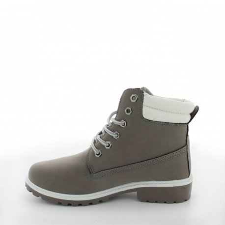 Ideal Shoes - Bottines style randonnée Calypso Gris