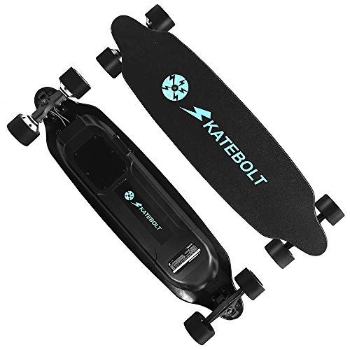 SKATEBOLT Tornado Skateboard électrique avec télécommande, 36-40 km/h en Vitesse de Pointe,maximale de 25-30km Variant des...