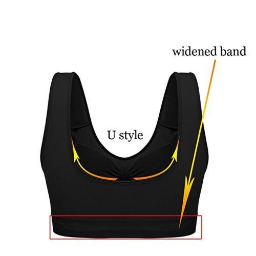 NEW Seamless Sports Style Bra Crop Top Vest Comfort Stretch Bras Shapewear by Boolavard purple