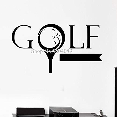 Design Wandaufkleber Vinyl Aufkleber Golf Wort Golfer Sport Spiel Schöne Dekoration Fans selbstklebende Kunst WandbilderCM 71x131cm