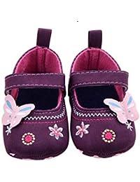 cc0c63d4e37c0 GIO117 Zapatos de Bebé – Zapatillas Tacto Muy Suave Niña – Patucos con  Velcro para Bebé - Zapatitos Primeros Pasos - Pantuflas Infantiles 0…