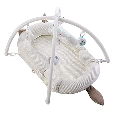 YANGGUANGBAOBEI Cuddly Baby Sleeping Pod,for Bed,Portable Baby Nest,Soft Sleeping Cribs Cuddle Pads-Baby Lounger,D