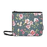 EIJODNL Jahrgang mit rosa roten Blüten und Blättern Muster benutzerdefinierte hochwertige Nylon...