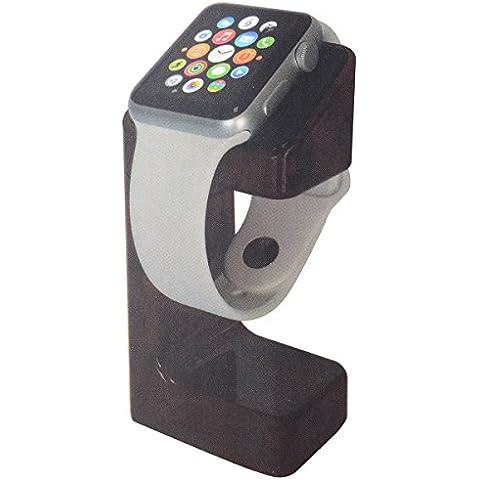 XCSOURCE® Madera Cargador Soporte Bases de Carga Estación de Acoplamiento de Plataforma Sostenedor de Horquilla para Apple Watch iWatch 38mm y 42mm BC467