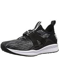 PUMA Women's Ignite Evoknit Lo 2 Wn Sneaker, Black-Quiet Shade White, 9.5 M US