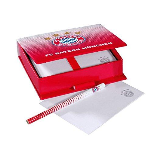FC Bayern München Zettelbox Logo neu Memo Block, paper box, caja de papel, boîte de papier (Glas-block-caps)