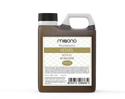 miaono Neemöl kaltgepresst mit Emulgator (Rimulgan) vorgemischt sofort in Wasser löslich - 1000ml