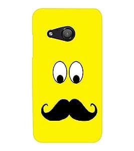 EPICCASE Yellow face Mobile Back Case Cover For Microsoft Lumia 550 (Designer Case)