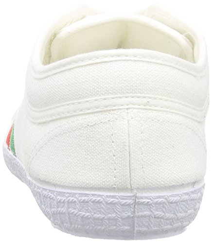 Kawasaki Tennis Nuclear, Baskets Basses mixte adulte Blanc - Weiß (White, 01)