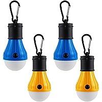 4 x LED Campinglampe Zeltlampe Glühbirne, Rucksack Licht -Dichtungsring, Wasserdicht, Gut für die Zeltbeleuchtung, Wandern, Angeln, Jagen, Bergsteigen und andere Outdoor-Aktivitäten