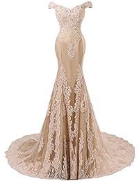 Sunvary Romantisch Mermaid Neu Spitze Traeger Abendkleid Ballkleider