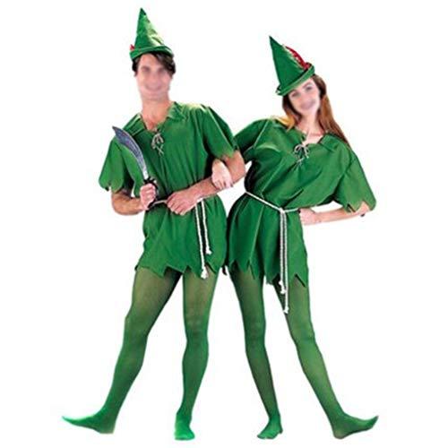 Adult-Grün-Fee-Kostüm-Karikatur Film Cosplay Elfen Halloween-Party-Fancy Weihnachten Masquerade Stage Performance
