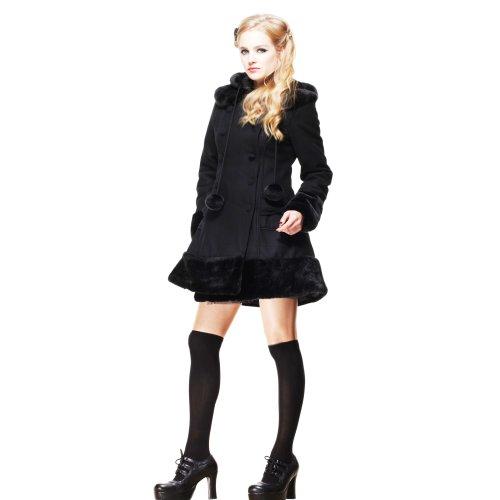 Hell Bunny cappotto corto Sarah Jane, nero nero S