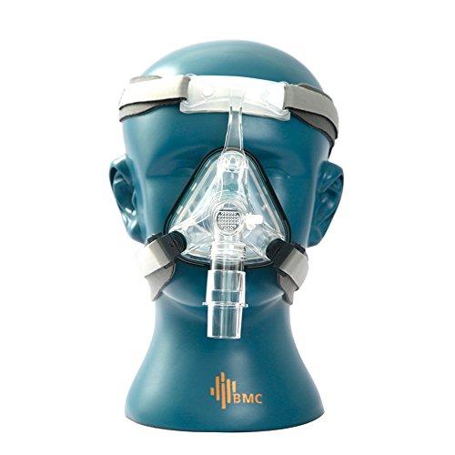 BMC NM1Nasal Maske für CPAP-Maschine Schlaf Schnarchen OSAS Therapie Verwenden, Größe SML mit Gürtel Kissen Clips Einfache Reinigung Connect Schlauch (Reise-schlaf-maschine)