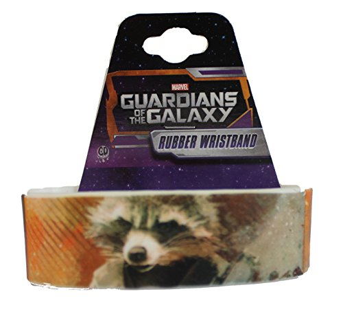 "Preisvergleich Produktbild GUARDIANS OF THE GALAXY Movie Multi Rocket, Officially Licensed Original Stylish Design, 4"" x 1"" Rubber Wristband"