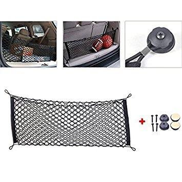 Trillycoler Auto Kofferraumnetz Fließheck SUV RV Hinten Trunk Cargo Nylon Lagerung Gepäck Netz mit Montage